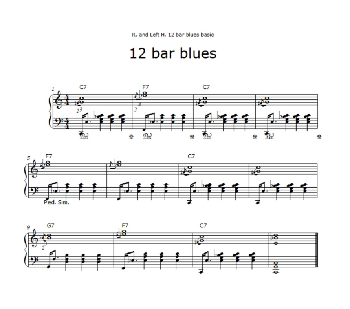 12 bar blues leadsheet